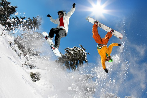 an amazing stunt with wearing the best headphones for snowboarding